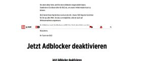 Adblocker – Verlage sperren ihre Websites